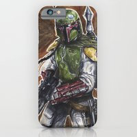 iPhone & iPod Case featuring Boba Fett by KristinMillerArt