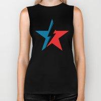 Bowie Star black Biker Tank