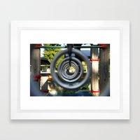 Through the Park Rings Framed Art Print