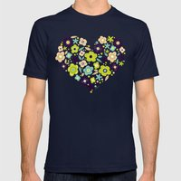 Heart of Pollen Mens Fitted Tee Navy SMALL