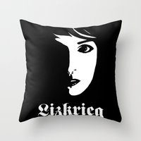 Lizkrieg Throw Pillow