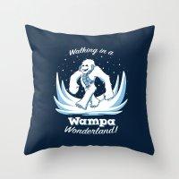 Walking in a Wampa Wonderland Throw Pillow