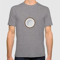 Coconut print Mens Fitted Tee Tri-Grey SMALL