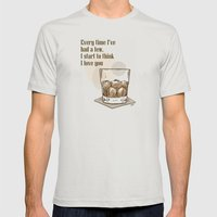 Scotch Love By RonkyTonk Mens Fitted Tee Silver SMALL