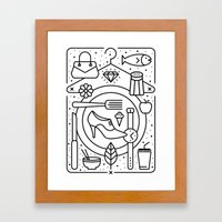 Food and Fashion Framed Art Print