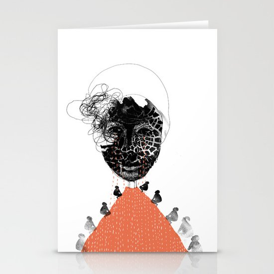 Moonrise mountain (mother earth cries) Stationery Card