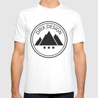 Drix Design Mens Fitted Tee White SMALL
