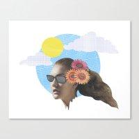 Head Collage Canvas Print