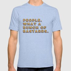 Bastards Mens Fitted Tee Tri-Blue SMALL