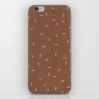 Canvas Dot Line Design iPhone & iPod Skin