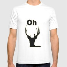 Oh deer Mens Fitted Tee White SMALL