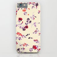 iPhone & iPod Case featuring floral vines by threequalsquare