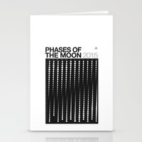 2015 Phases Of The Moon … Stationery Cards