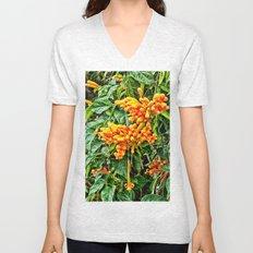 Spectacular orange trumpet flower Unisex V-Neck
