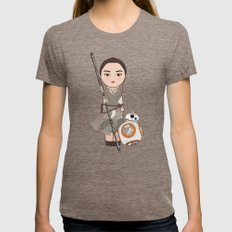 Kokeshis Rey And Cute Dr… Womens Fitted Tee Tri-Coffee SMALL