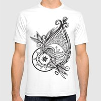 whaletangle Mens Fitted Tee White SMALL