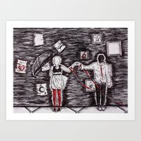 Tied To Disorder Art Print