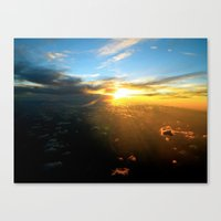 Above The Endless Sky Canvas Print