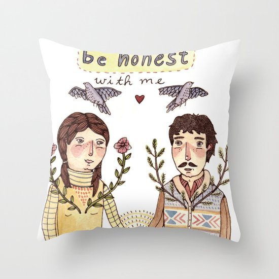 Always Be Honest Throw Pillow