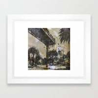 The Embarcadero on mylar  Framed Art Print