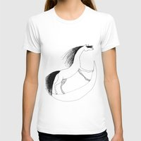Horsie Womens Fitted Tee White SMALL