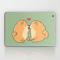 Pomeranian Kisses Laptop & iPad Skin