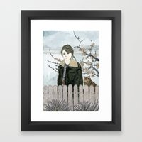 Early Spring Walk Framed Art Print