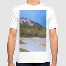 Mountain Lake I Mens Fitted Tee White SMALL