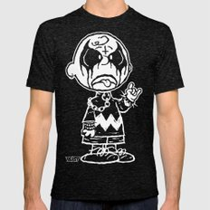 CHARLIE BLACK Mens Fitted Tee Tri-Black SMALL