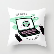 The World In Your Hands Throw Pillow
