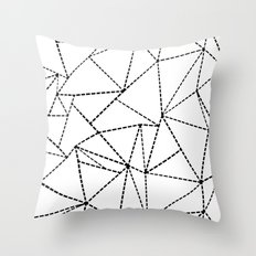 Abstract Dotted Lines Black and White Throw Pillow
