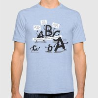 Type Rights Mens Fitted Tee Tri-Blue SMALL