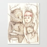 Circus Bears Canvas Print