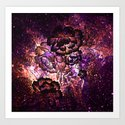 Magical Sunset Floral Abstract Art Print