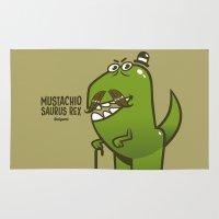 Mustachio Saurus Rex Rug