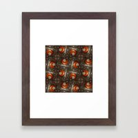 Salad Spinner Pattern Framed Art Print