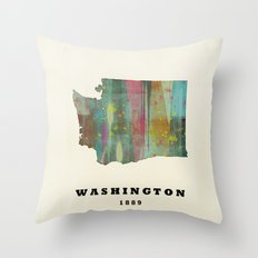 Washington State Map Mod… Throw Pillow