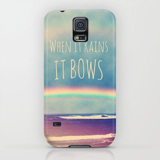 When It Rains, It Bows iPhone & iPod Case