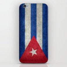 Cuban national flag- vintage retro version iPhone & iPod Skin