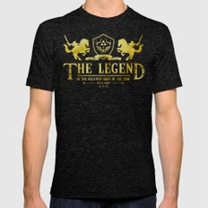 The Legend Of The Greast… Mens Fitted Tee Tri-Black SMALL