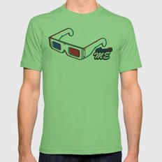 ThreeD Me Mens Fitted Tee Grass SMALL