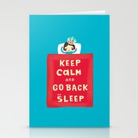 keep calm Stationery Cards featuring keep calm by Jill Howarth