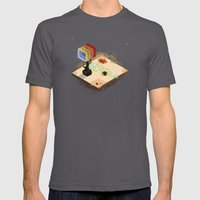 In the Rays of a Cloudless Sun Mens Fitted Tee Asphalt SMALL