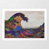 The Great Wave Off Kanag… Art Print