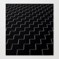 ZigZags Dark Canvas Print