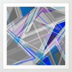 ∆Blue Art Print