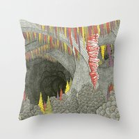 Color Cave Throw Pillow