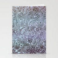 Detailed Square, Grey'n … Stationery Cards