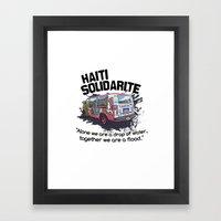 Haiti Solidarity - Ayiti Solidarite Framed Art Print