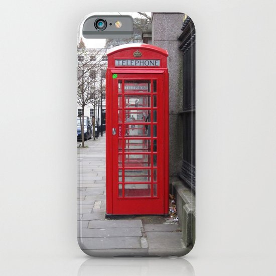 London Phone Booth iPhone & iPod Case